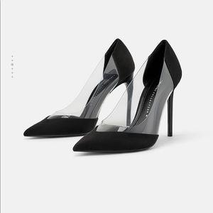 Vinyl high heels